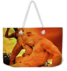 Theseus And The Minotaur Weekender Tote Bag by John Malone