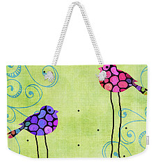 Three Birds - Spring Art By Sharon Cummings Weekender Tote Bag by Sharon Cummings