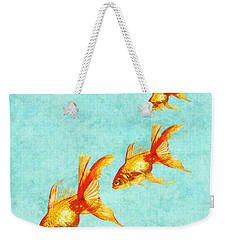 Three Little Fishes Weekender Tote Bag by Jane Schnetlage
