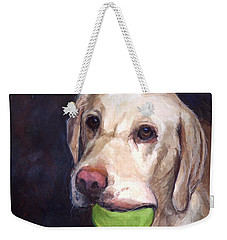 Throw The Ball Weekender Tote Bag by Molly Poole