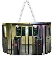 Ticket Gates Weekender Tote Bag by Carlos Caetano