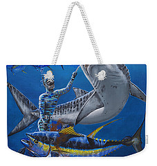 Tiger Encounter Weekender Tote Bag by Carey Chen
