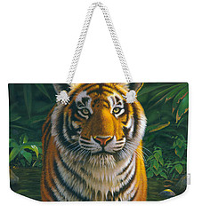 Tiger Pool Weekender Tote Bag by MGL Studio - Chris Hiett