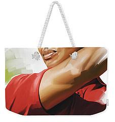 Tiger Woods Artwork Weekender Tote Bag by Sheraz A