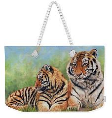 Tigers Weekender Tote Bag by David Stribbling