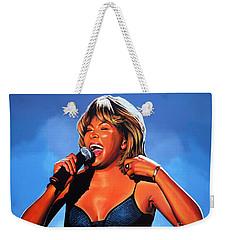 Tina Turner Queen Of Rock Weekender Tote Bag by Paul Meijering