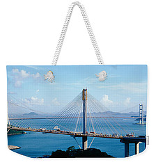 Ting Kaw & Tsing Ma Bridge Hong Kong Weekender Tote Bag by Panoramic Images