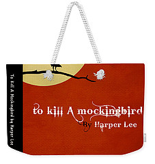 To Kill A Mockingbird Book Cover Movie Poster Art 1 Weekender Tote Bag by Nishanth Gopinathan