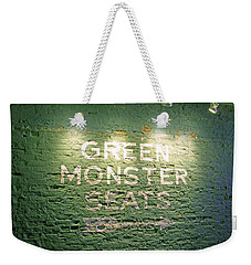 To The Green Monster Seats Weekender Tote Bag by Barbara McDevitt