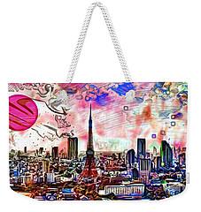 Tokyo Metropolis Weekender Tote Bag by Daniel Janda
