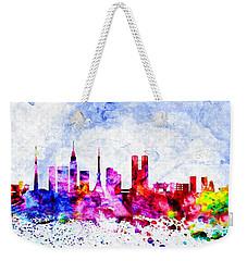 Tokyo Watercolor Weekender Tote Bag by Daniel Janda
