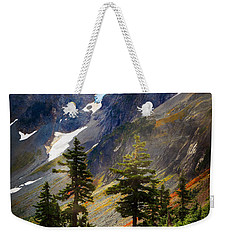Top Of Cascade Pass Weekender Tote Bag by Inge Johnsson