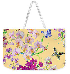 Tossed Orchids Weekender Tote Bag by Kimberly McSparran