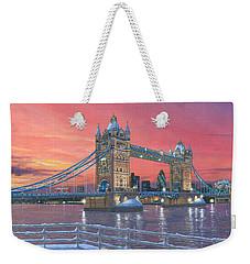 Tower Bridge After The Snow Weekender Tote Bag by Richard Harpum