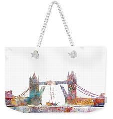 Tower Bridge Colorsplash Weekender Tote Bag by Aimee Stewart