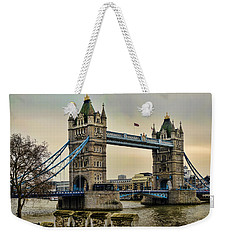 Tower Bridge On The River Thames Weekender Tote Bag by Heather Applegate