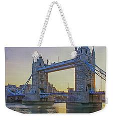 Tower Bridge Sunrise Weekender Tote Bag by Chris Thaxter
