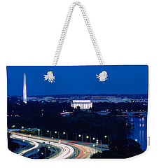 Traffic On The Road, Washington Weekender Tote Bag by Panoramic Images