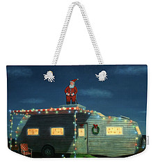 Trailer House Christmas Weekender Tote Bag by James W Johnson