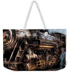 Train - Engine -  Now Boarding Weekender Tote Bag by Mike Savad