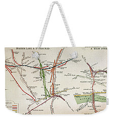 Transport Map Of London Weekender Tote Bag by English School