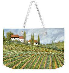 Tre Case Bianche Nella Vigna Weekender Tote Bag by Guido Borelli