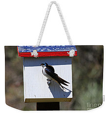 Tree Swallow Home Weekender Tote Bag by Mike  Dawson