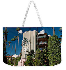 Trees In Front Of A Hotel, Beverly Weekender Tote Bag by Panoramic Images