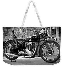 Triumph De Luxe 1939 Weekender Tote Bag by Mark Rogan
