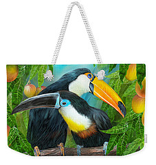 Tropic Spirits - Toucans Weekender Tote Bag by Carol Cavalaris