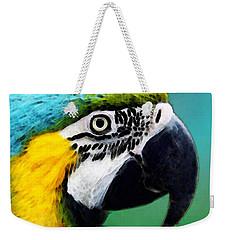 Tropical Bird - Colorful Macaw Weekender Tote Bag by Sharon Cummings