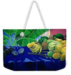 Tropical Fruit Weekender Tote Bag by Lincoln Seligman