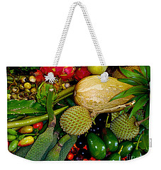 Tropical Fruits Weekender Tote Bag by Carey Chen