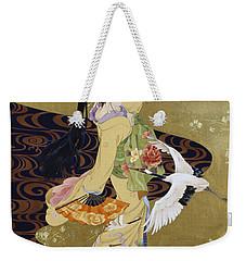 Tsuru No Mai Weekender Tote Bag by Haruyo Morita