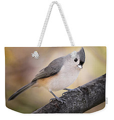 Tufted Titmouse Weekender Tote Bag by Bill Wakeley