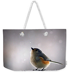 Tufted Titmouse Weekender Tote Bag by Cricket Hackmann