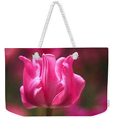 Tulip At Attention Weekender Tote Bag by Rona Black