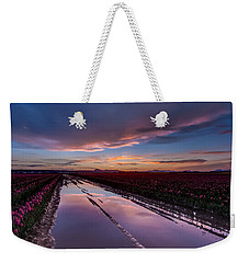 Tulips And Purple Skies Weekender Tote Bag by Mike Reid