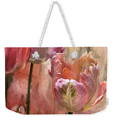 Tulips - Colors Of Love Weekender Tote Bag by Carol Cavalaris