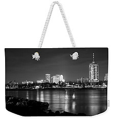 Tulsa In Black And White - University Tower View Weekender Tote Bag by Gregory Ballos