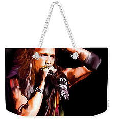 Steven Tyler  Tyler II Weekender Tote Bag by Iconic Images Art Gallery David Pucciarelli