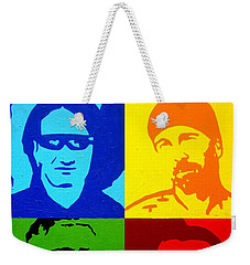 U2 Weekender Tote Bag by John  Nolan