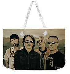 U2 Silver And Gold Weekender Tote Bag by Paul Meijering