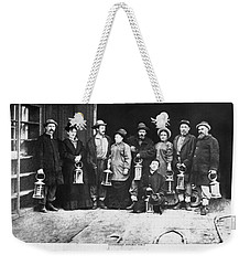 Ulysses S. Grant Visits Mine Weekender Tote Bag by Underwood Archives