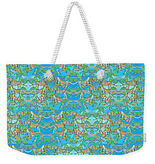 Under The Sea Horses Weekender Tote Bag by Betsy Knapp