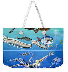 Underwater Creatures Montage Weekender Tote Bag by English School