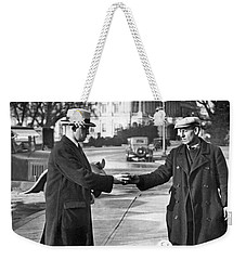 Unemployed Man Sells Apples Weekender Tote Bag by Underwood Archives