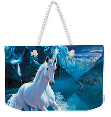 Unicorn Weekender Tote Bag by Andrew Farley