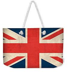United Kingdom Union Jack England Britain Flag Vintage Distressed Finish Weekender Tote Bag by Design Turnpike