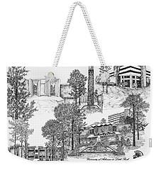 University Of Arkansas Weekender Tote Bag by Liz  Bryant